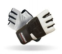 MADMAX Fitness rukavice PROFESSIONAL WHITE MFG269